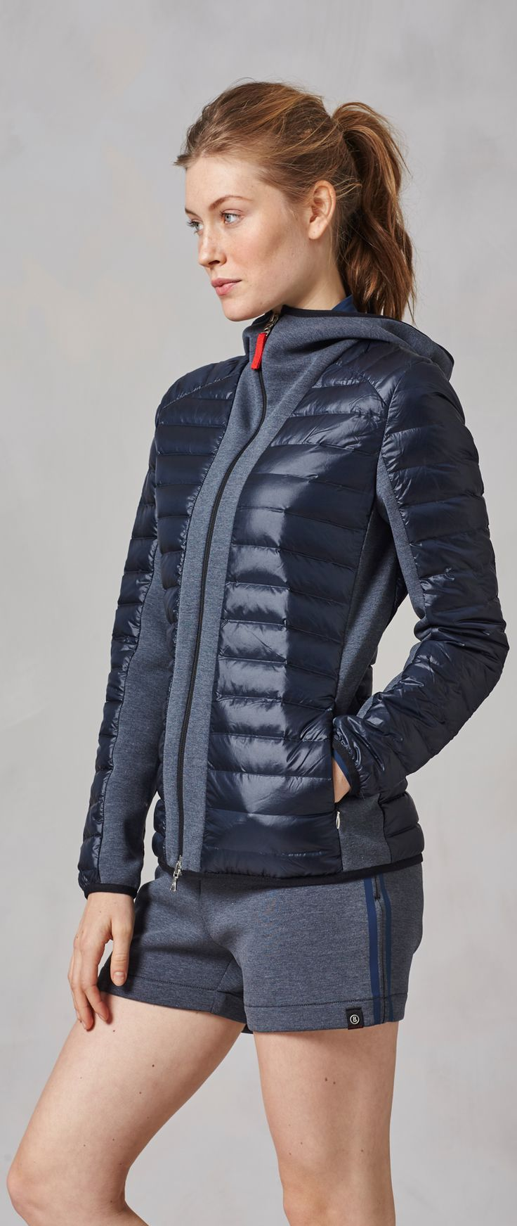 Some people just don't like the feeling of pure nylon from a down jacket on their skin, so this women's light down jacket from Bogner Fire + Ice features softer cotton materials in the spots that matter the most. It's lightweight for the warmer months, and is the perfect cross between a true jacket and your favorite hoodie.