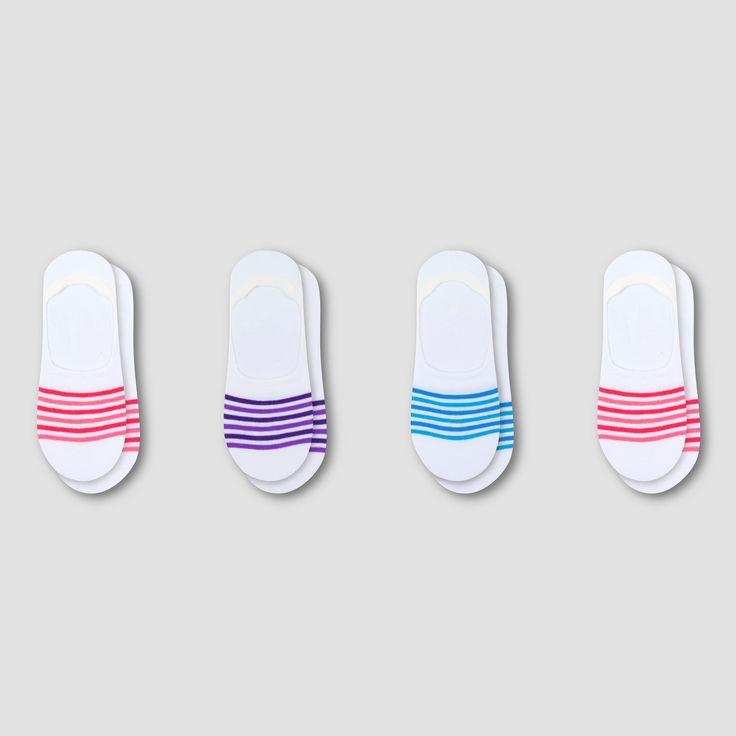 Women's Fresh IQ Invisible Liner Socks 3pk + 1 Bonus - C9 Champion White/Pink 5-9