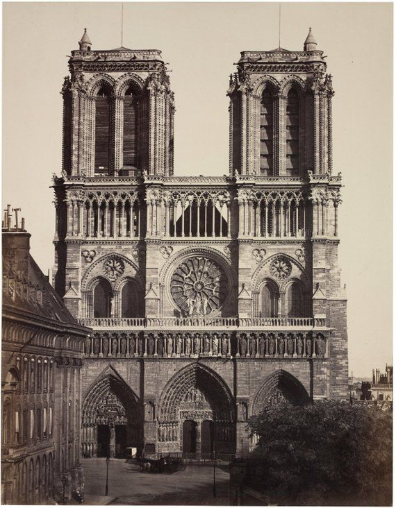 Notre Dame Cathedral Giclee Print French Decor Art Print