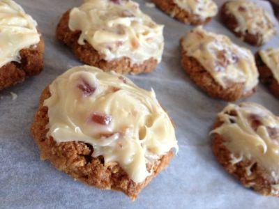 Gluten Free Almond Chocolate Cherry Biscuits