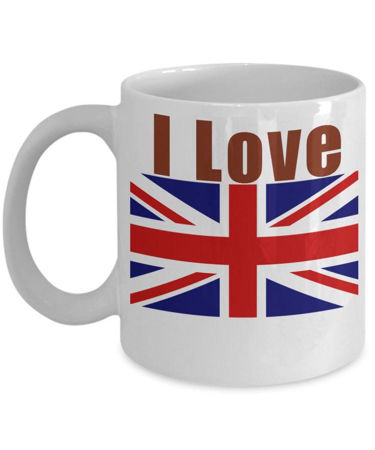 I Love UK Coffee Mug With A Flag