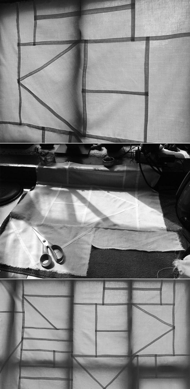 Pojagi Patchwork tests in the studio #aelder #aelderdesign