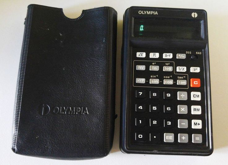 46 years old fully functional Olympia CD94 scientific calculator. Marked on the back OLYMPIA WEKE AG., Wilhelmshaven / Western Germany, Model CD94, 4.5V=0.6W, Entspricht Allg. Gen DBP (Vfg. 529/1970), Made in Japan. | eBay!