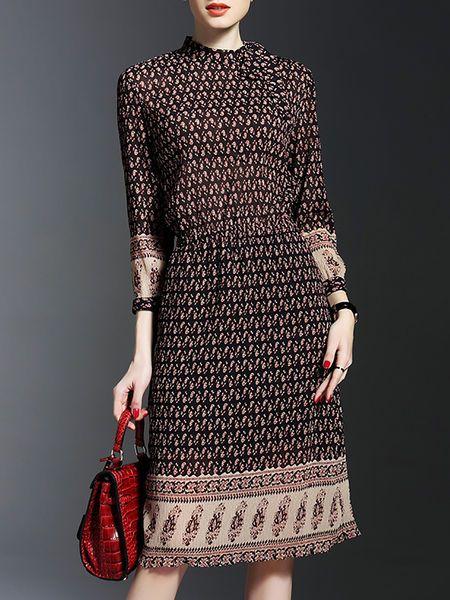 Ribbed Chiffon #Midi #Dress