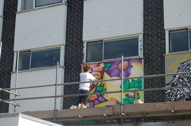 Gloucester Paint Jam 2-3 August 2014 #streetart #Graffiti Festival King's Walk