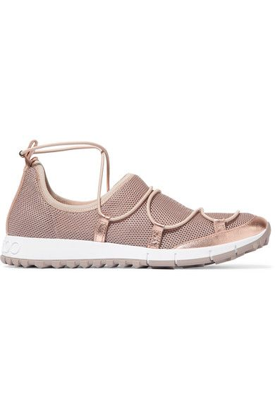 Rubber sole measures approximately 20mm/ 1 inch Rose gold mesh and leather (Goat) Slip on Made in Italy