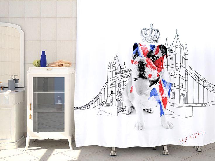 WESS UK OFFA - занавеска для ванной комнаты из ткани 220x200 см. Цена 1500р. Посмотреть на сайте: http://likemyhome.ru/catalog/shtorki-karnizy-kolca/00004631 #likemyhome #showercurtain #bathroomdecor #interiorstyle #wess #offa