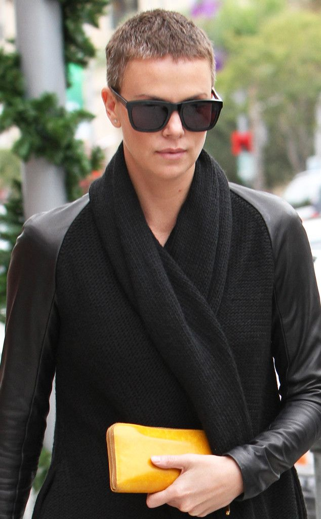Charlize Theron from Stars' Epic Hair Transformations  Charlize Theron shocked everyone when she shaved her head for her role in Mad Max: Fury Road.