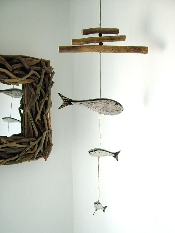 fish mobile for a beach house
