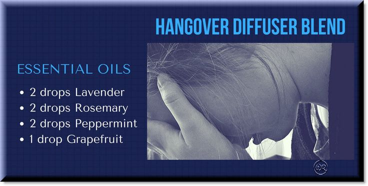 Diffuser blend of essential oils to treat a hangover... and maybe for grumpy too, rosemary