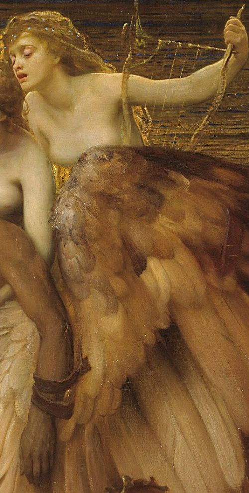The Lament For Icarus detail, 1898  Herbert James Draper: