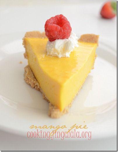 Mango Pie: No-bake mango pie recipe.