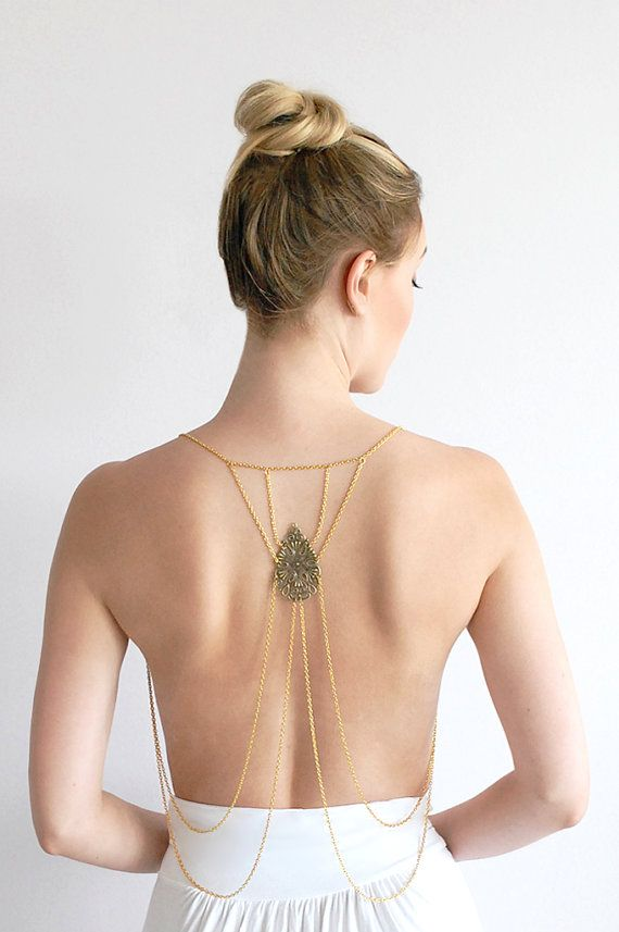 Lust Body Chain Jewelry Rihanna Beyonce Miley by Element7Style, $92.00