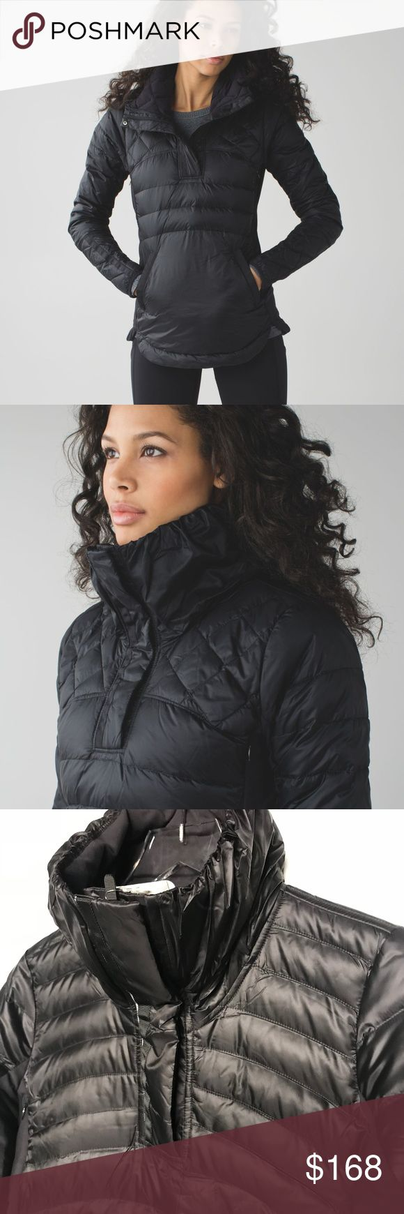"NWT Lululemon Jacket - Sizes 4 6 12 This is a Lululemon goose feather down jacket named ""Down For A Run II Pullover"" in black. New with tags. Thumbholes and a large front pocket. Sizes 4, 6 and 12. lululemon athletica Jackets & Coats Puffers"