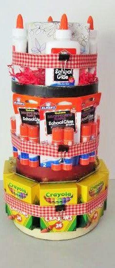 Teacher supply cake teacher gift teacher by christinasbabygifts