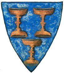 Bandera del reino medieval de Galicia