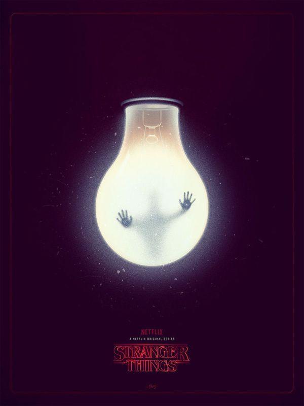 Stranger things fan art minimal poster