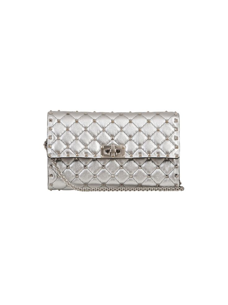VALENTINO ROCKSTUD SPIKE CLUTCH. #valentino #bags #shoulder bags #clutch #lining #hand bags #
