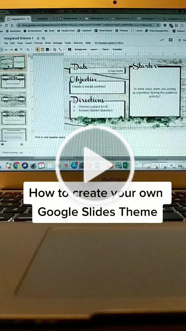 Katie Borton Bortonscience On Tiktok Teacher Tip Create Your Own Google Slide Theme Teac Life Hacks For School High School Life Hacks Google Slides Themes
