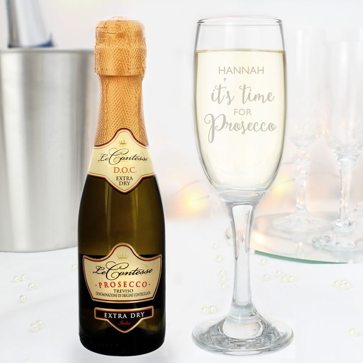 Our 'It's Time for Prosecco' flute & mini prosecco is a perfect way to celebrate with a little treat!   This flute can be personalised with a name up to 12 characters in length and is Ideal for all occasions;Birthdays, Mother's Day, Engagement, Hen Parties, Weddings, Anniversaries.  -ONLY £19.99!  Inbox us to order or visit our website -