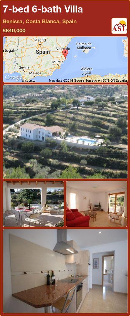 7-bed 6-bath Villa in Benissa, Costa Blanca, Spain ►€840,000 #PropertyForSaleInSpain