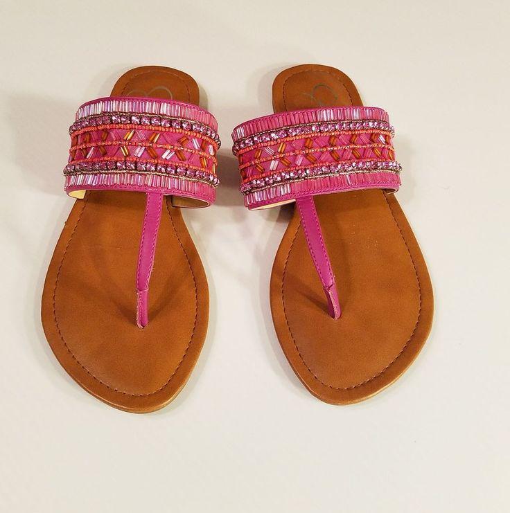 Jessica Simpson Rubenson Dress Beaded Sandals Pink sz 10 Womens #JessicaSimpson #sandal #funtimes #ebayROCteam