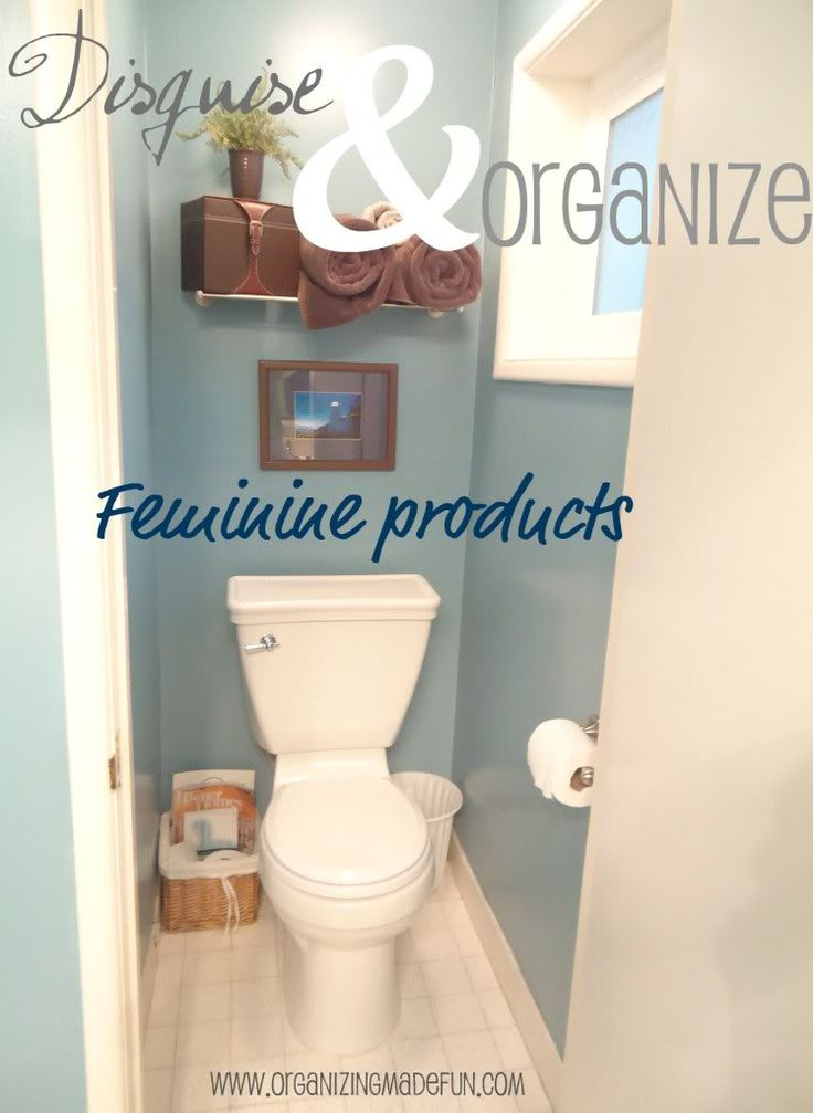 Hide and organize your feminine products