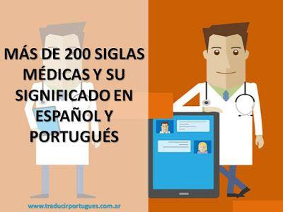 Siglas médicas, abreviaturas, inglés, español, portugués