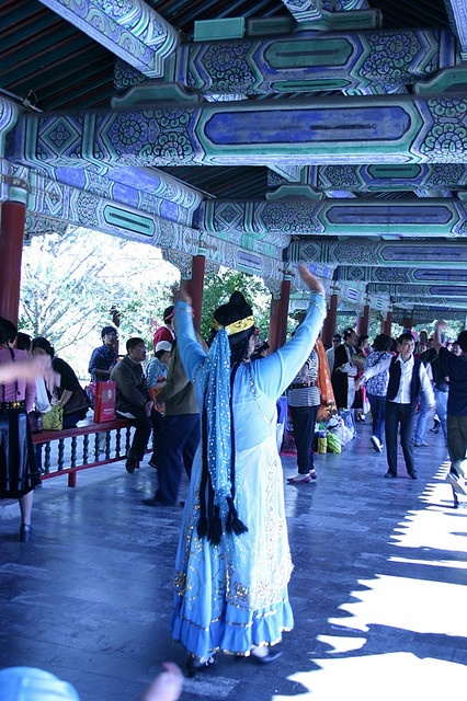Summer Palace     China-Beijing  They dance and play board games here every day.