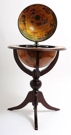 """Features:  -Pedestal stand.  -3 legged wooden stand-red.  Product Type: -Floor Globe.  Design: -Topographical.  Style (Old): -Transitional.  Globe Diameter: -13"""" - 20"""".  Mounting: -Fork Stand.  Ocean"""