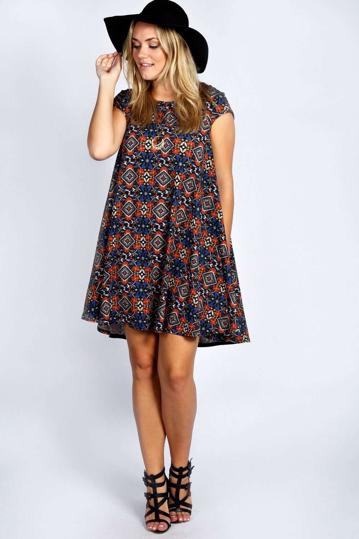 Edie Cap Sleeve Swing Dress alternative image