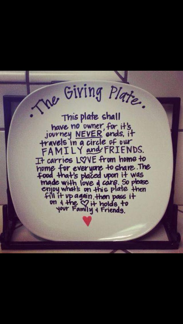 Giving plate as a gift for new homeowners!                                                                                                                                                                                 More