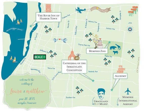 Wedding Invitations Memphis Tn: Best 25+ Wedding Maps Ideas On Pinterest