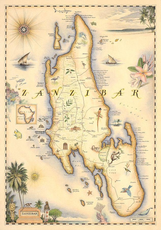 216 best Travel: Zanzibar ✈ images on Pinterest | Africa, Maps