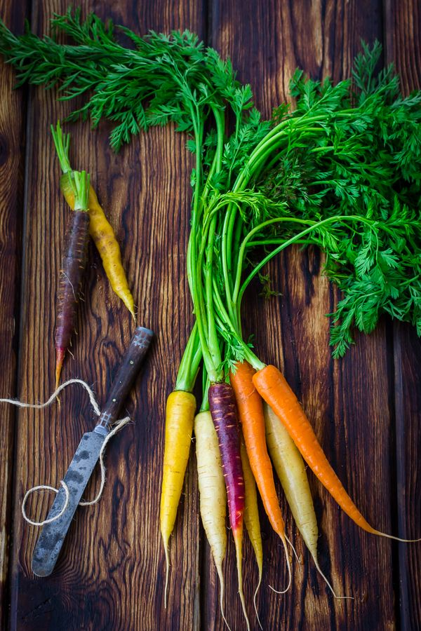 Pretty carrots: try this recipe for Cumin and Honey Roasted Carrots, Ricotta, and Gremolata