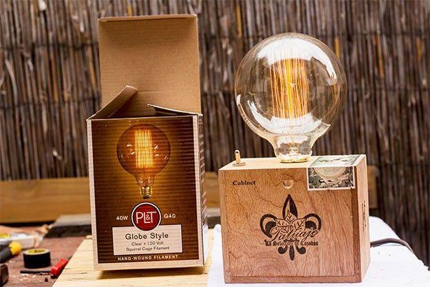 DIY Lamp | Vintage Cigar Box Lamp