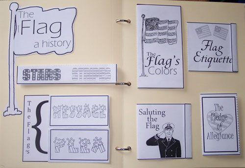 American Flag Lapbook for Lentil