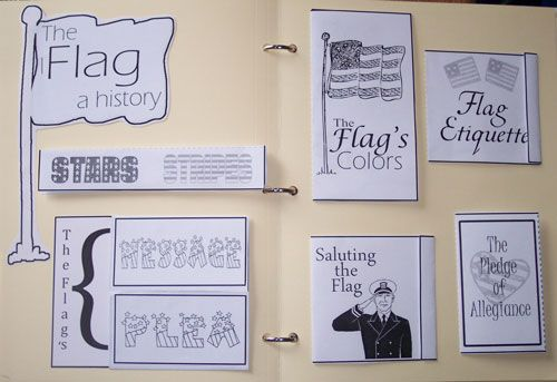 American Flag Lapbook for Lentil