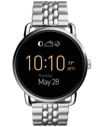 Fossil Women's Digital Q Wander Stainless Steel Bracelet Smart Watch 45mm FTW2111 | macys.com
