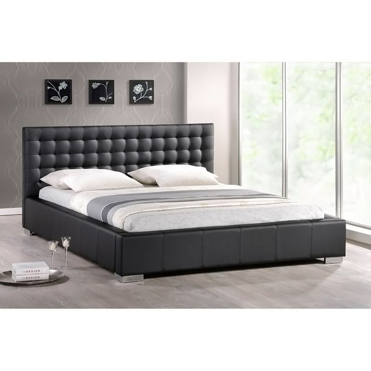hunter black full modern bed frame