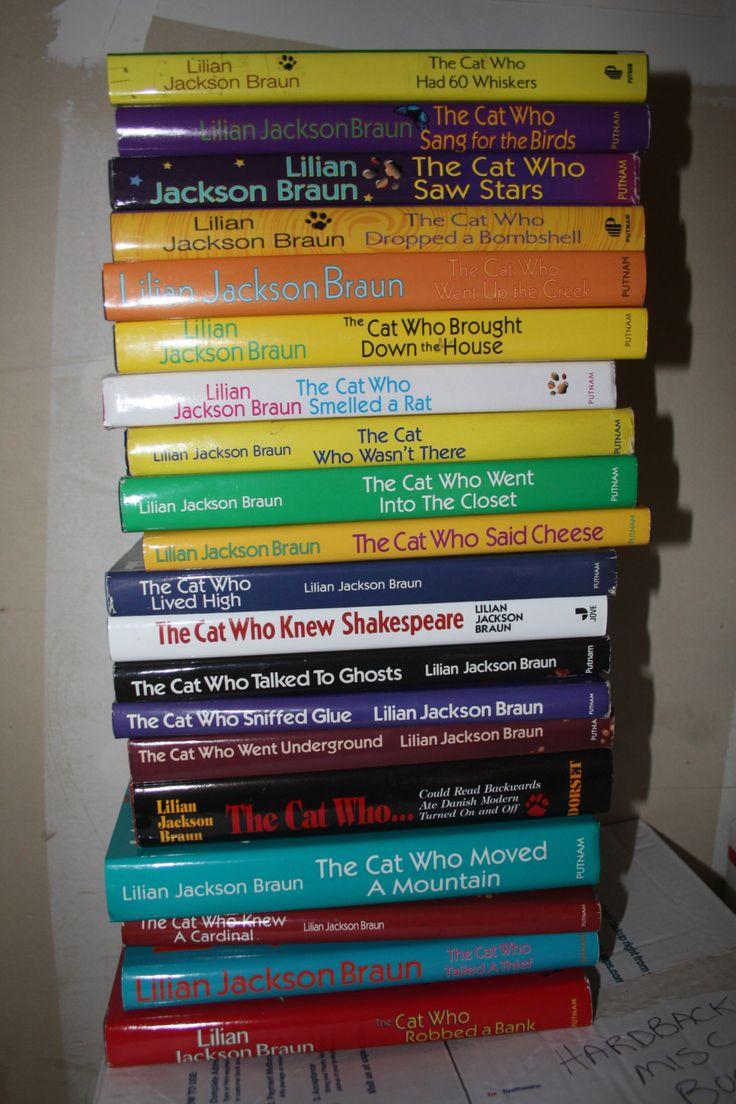 22 Hardcover Lillian Jackson Braun books by TheKindLady on Etsy