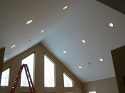 Vaulted Ceiling with Sloped Ceiling Recessed Lighting