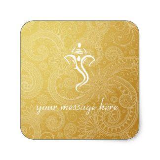 Gold Vinayaka Wedding Stickers