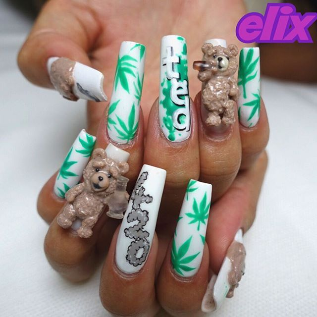53 best ghetto nail art bling nails gallery images on pinterest new my nail ted 3d prinsesfo Choice Image