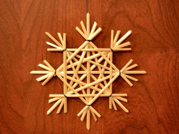 Traditional German Straw Star or Snowflake Decoration:  Natural (4 in)  item 5-2004. $11.00, via Etsy.