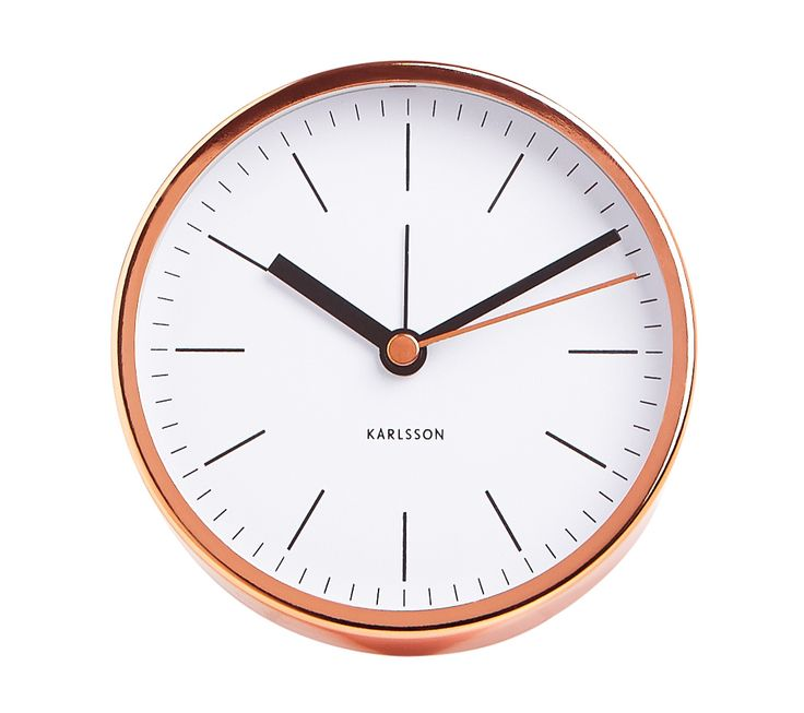 Leave your phone out of the bedroom at night and choose this Copper Karlsson kikki.K Desk Clock as an alarm instead