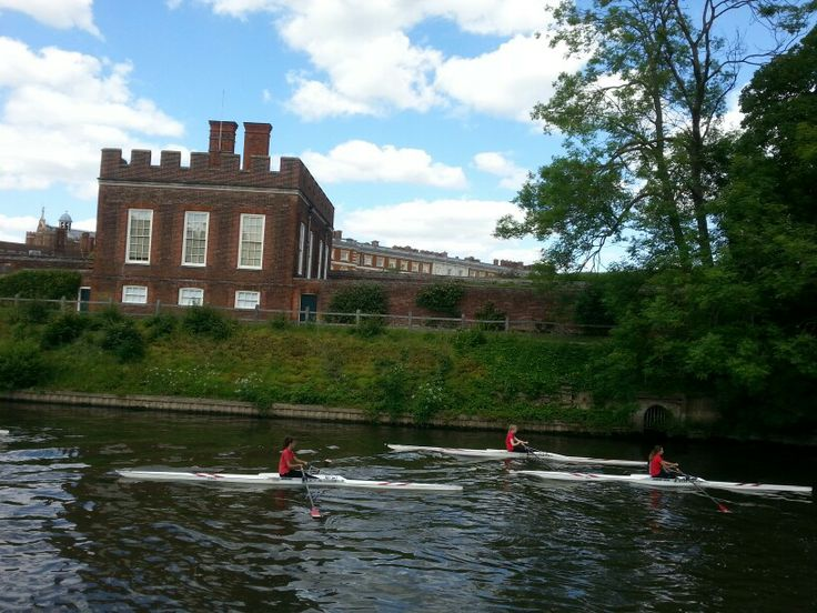 Just a few of the students rowing. Eights, fours and pairs as well.