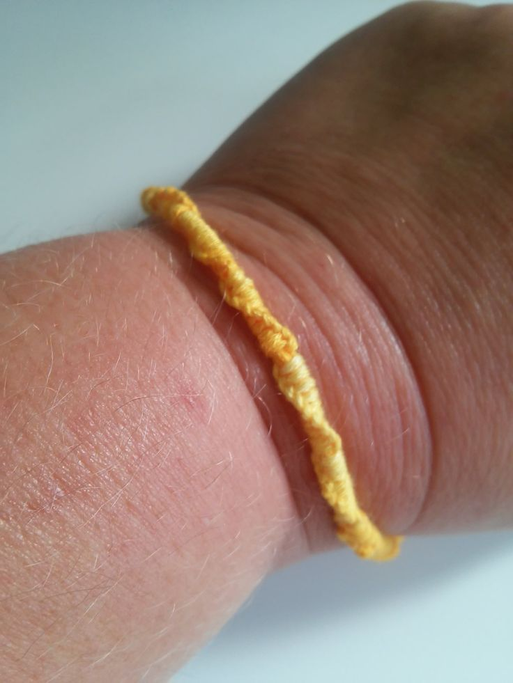 Yellow ombre Chinese staircase friendship bracelet, bff, stocking stuffers, under 5, gifts, for her, for him by megsinstitches on Etsy
