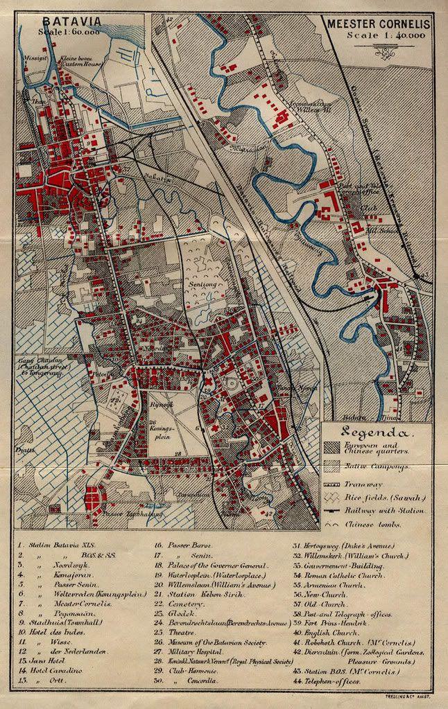Old Map of Batavia     (Jakarta Indonesia)