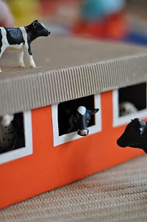 A farm from a shoebox    by Lilla a